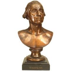 Lifesize Bronze Bust of George Washington
