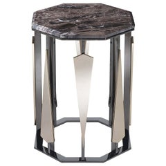 Hexagonal Tall Side Table