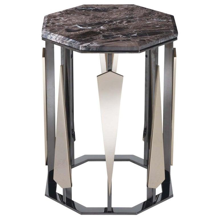 Hexagonal Tall Side Table