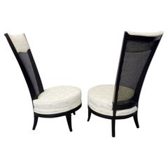 Pair of James Mont Style Hollywood Regency Lounge Chairs
