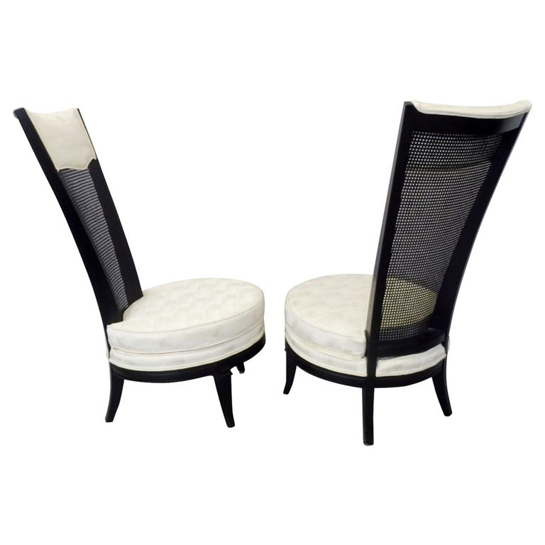 Pair of James Mont Style Hollywood Regency Lounge Chairs For Sale