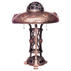 American Victorian Brass Table Lamp