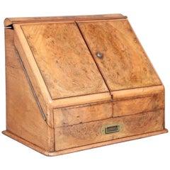 19th Century Burr Walnut Writing Slope