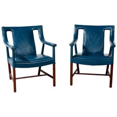 Ejner Larsen and Aksel Bender Madsen Pair of Armchairs, Model LP48, 1940s