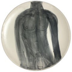 Homoerotic Ceramic Plate B, One of a Kind by Marc of Brooklyn