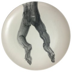 Homoerotic Ceramic Plate C, One of a Kind, by Marc of Brooklyn