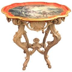 Italian Baroque Painted Piedmontese Table
