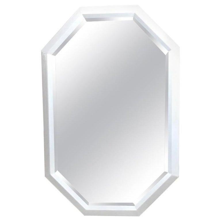 Lacquer Geometric Hexagon Mirror