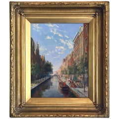 """A Canal in Amsterdam"" by William Dommersen"