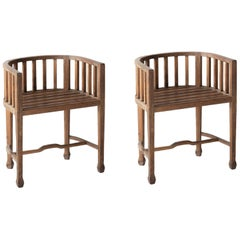 Pair of Pitch Pine Chairs, circa 1950