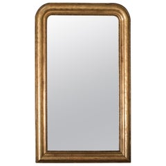 Antique French Louis Philippe Gold Mirror, France, circa 1885