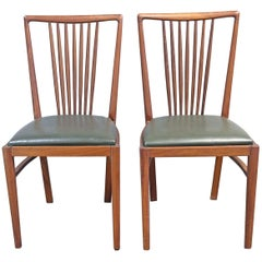 1950s Pair of Mahogany Portuguese Modern Chairs