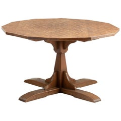 Carved Oak Table, circa 1930