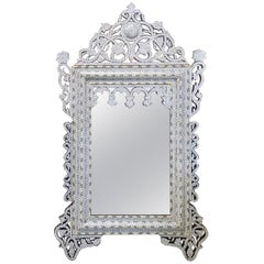 Large Syrian Mirror with Mother-of-Pearl