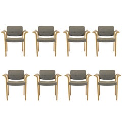 1970s Rud Thygesen and Johnny Sorensen Set of Eight Conference Armchairs