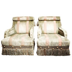 Pair of French Napoleon III Style Bergeres Le Style De Castaing