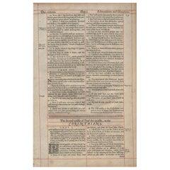 """Comfort in Affliction"", 1638 King James Bible, Cambridge Ed., 2nd Corinthians"
