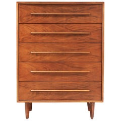 T.H. Robsjohn-Gibbings Walnut Chest of Drawers for Widdicomb