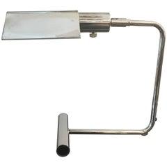 Koch & Lowy Chromed Articulating Desk Lamp