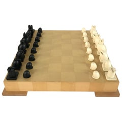 Michael Graves Postmodern Memphis Milano Chess and Checkers Set, Signed