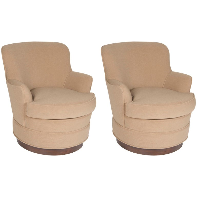 Pair of Mid-Century Modern Swivel Tele-Chairs by Harvey Probber