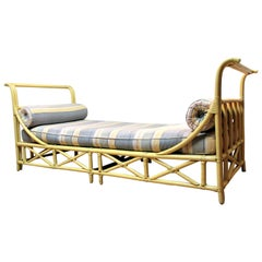 Rattan Sleigh Form Daybed by Ficks Reed