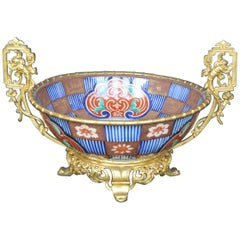 19th Century French Dore Bronze and Imari Porcelain