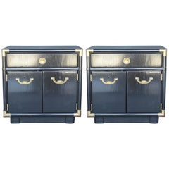 Pair of Hollywood Regency 1940s-1950s Nightstands