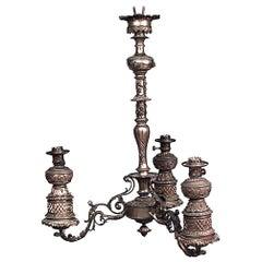 American Victorian Bronze Chandelier