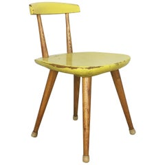 "Original Beechwood Children Chair Karla Drabsch for ""Kleid und Raum"" 1955"