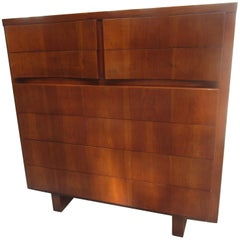 American of Martinsville Men's High Chest in Walnut