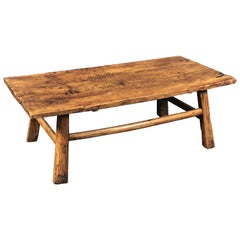English Low Table of Fruitwood