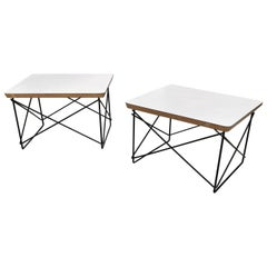 Early Solid Core Eames LTR Low Side Tables