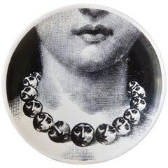 1950s Fornasetti Face Plate, Tema e Variazioni, N107