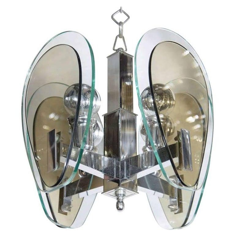 Mid-Century Modern Teardrop Glass Pendant Light 1