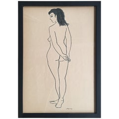 Drawing #6 of a Nude by Jerry O'day Alias Geraldine Heib