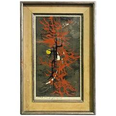 Rare Tadashi Nakayama Japanese Woodblock Print