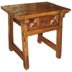 Beautiful 17th Century Walnut Side Table from Spain