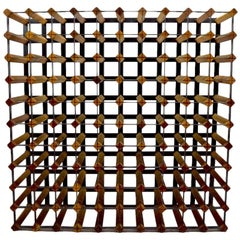 Large Architectural Mid Century Wine Rack