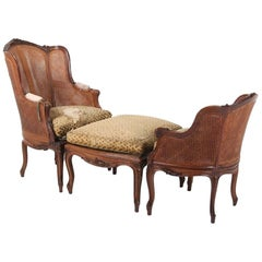 French Louis XV Walnut Duchess Brisee
