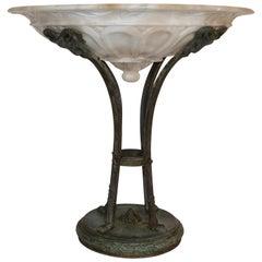 Grand Tour Bronze and Alabaster Tazza, Italian, Late 19th Century