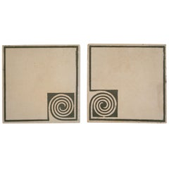 Peter Behrens, Pair of Tiles, circa 1903
