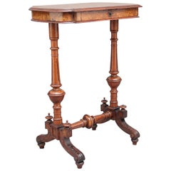 19th Century Burr Walnut Side Table