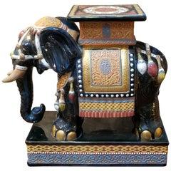 Ceramic Elephant Garden Stool or End Table