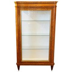 Continental Amboyna Inlaid Display Cabinet