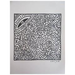 Keith Haring Spaceship Mixed-Media, 1982