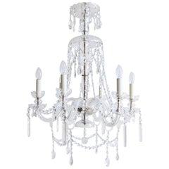 Large Bohemian Crystal Chandelier
