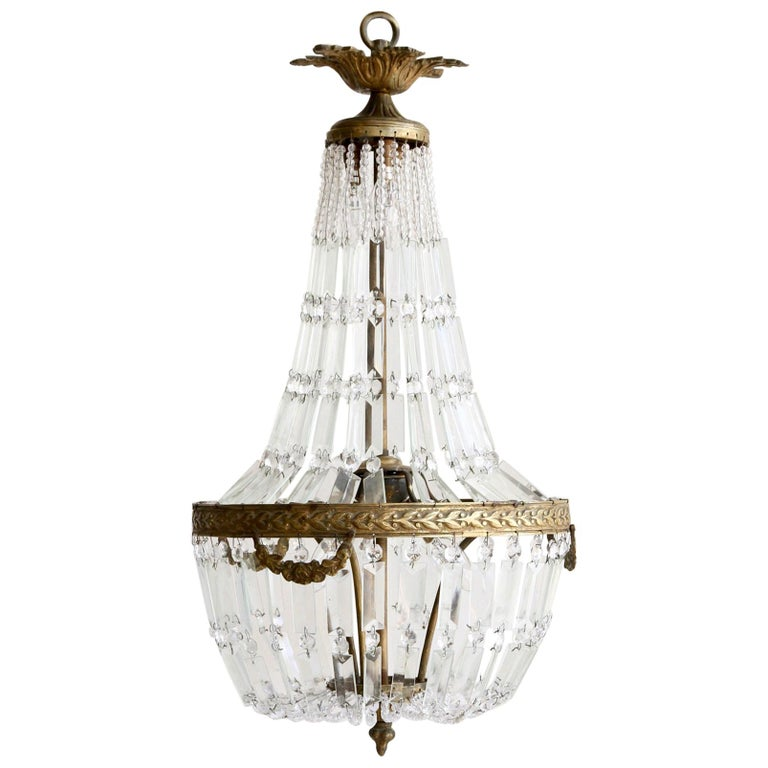 Antique montgolfierballoon italian chandelier at 1stdibs delicate tent balloon chandelier aloadofball Choice Image