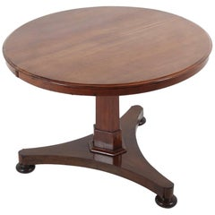 19th Century Round Mahogany Table