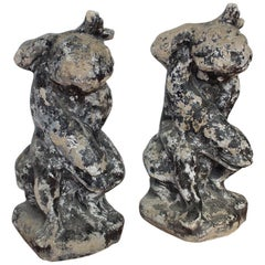 Pair of Antique French Cherub Fountains